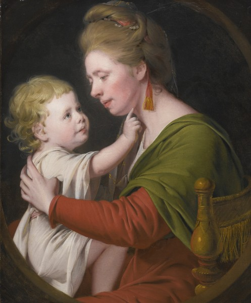 Joseph Wright of Derby Portrait of Jane Darwin and her son William Brown Darwin