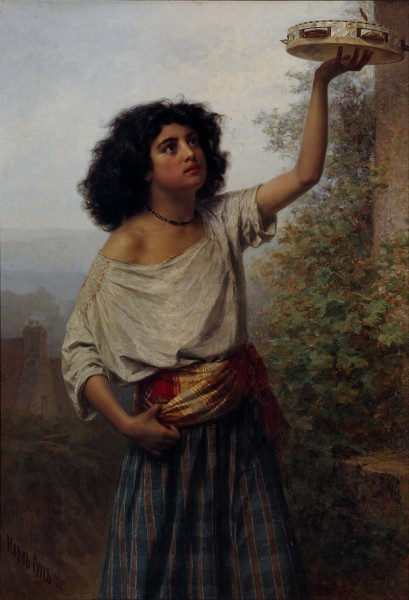 Kārlis Teodors Hūns - Young Gipsy Woman - Google Art Project
