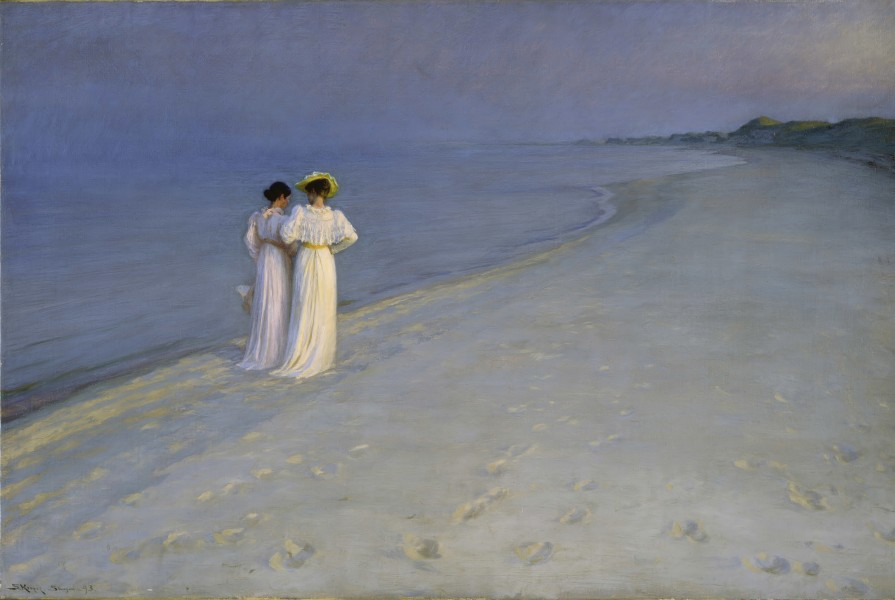 Kroyer summerevening southern beach