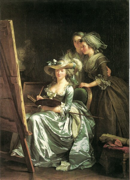 Labille-Guiard, Self-portrait with two pupils