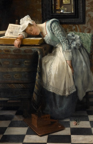 Laura Theresa Alma-Tadema - World of dreams (1876)