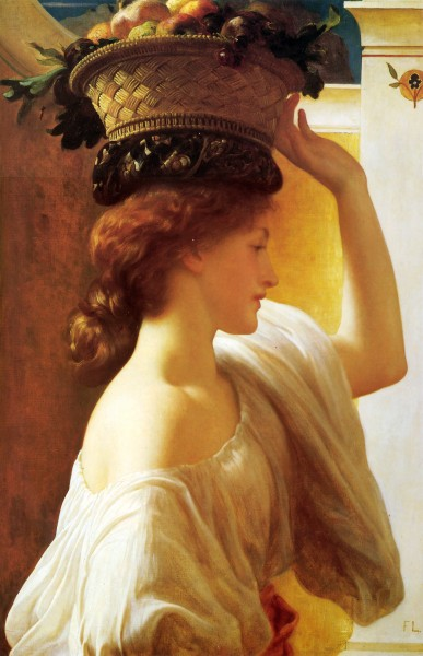 Leighton Girl with a basket of fruit