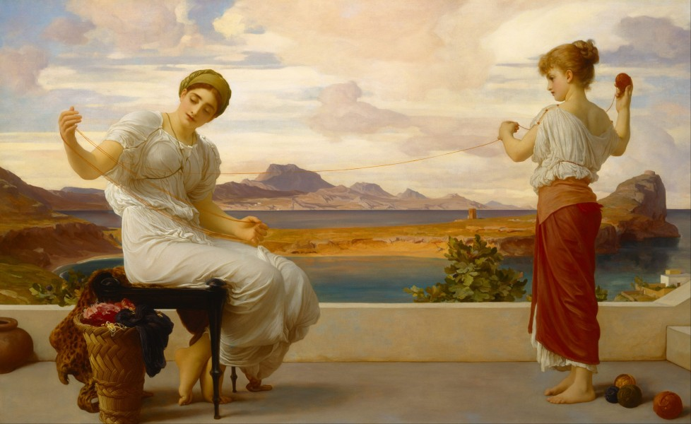 Lord Frederic Leighton - Winding the skein - Google Art Project