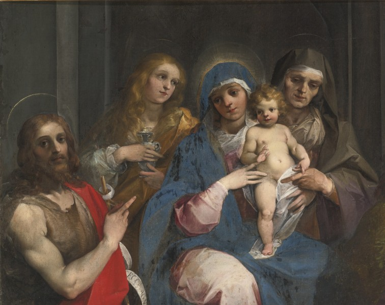 Madonna and Child with Saint John the Baptist, Mary Magdalen and Saint Anne