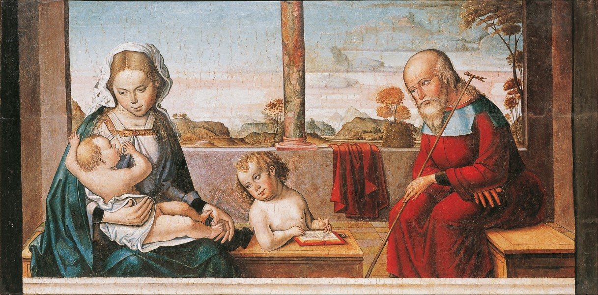 Master of Astorga - Holy Family with Young Saint John - Google Art Project