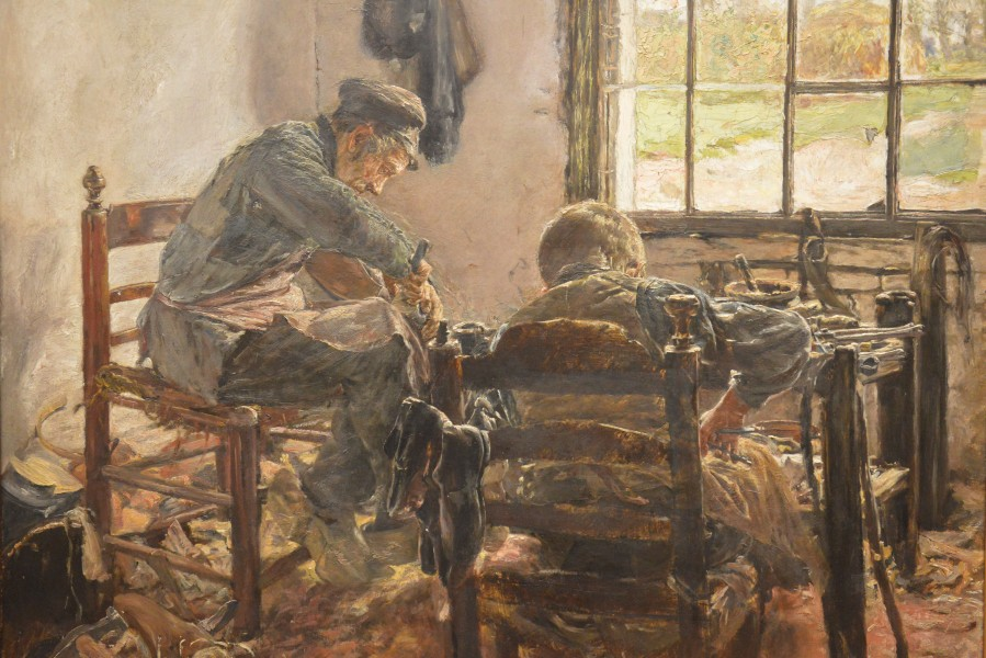Max Liebermann - Schusterwerkstatt (Cobbler's workshop) - 1881