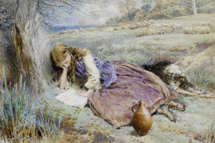 Myles Birket Foster The shepherdess