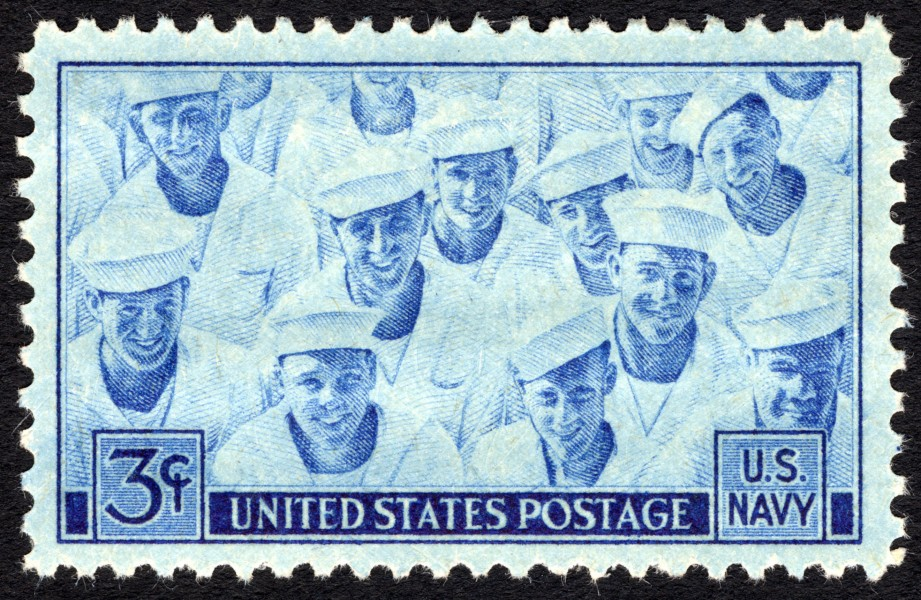Navy 3c 1945 issue U.S. stamp