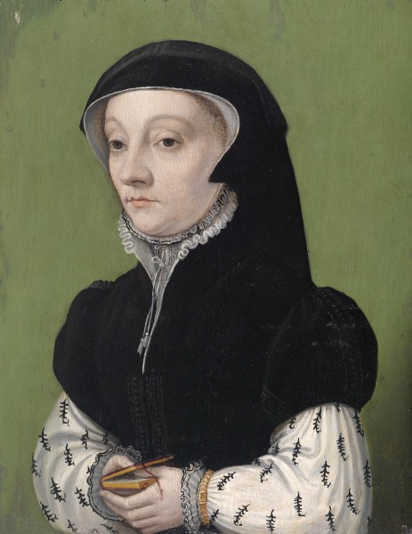 NL 16th century Portait of a women holding a book