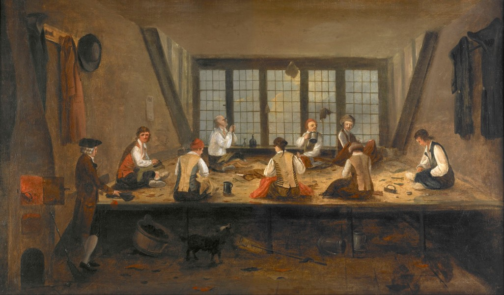 Painting; oil on canvas - Interior of a Tailor's Shop - Google Art Project