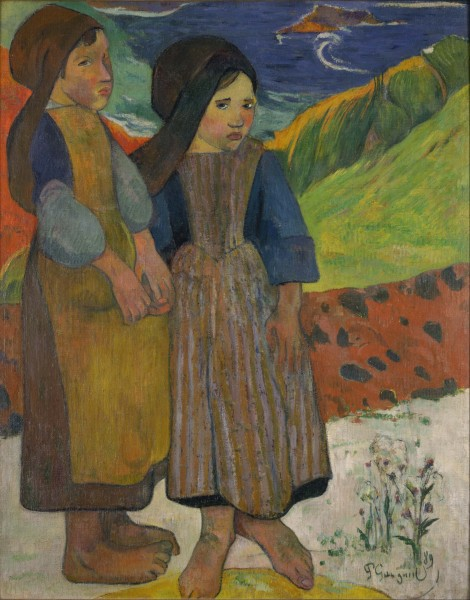 Paul Gauguin - Two Breton Girls by the Sea - Google Art Project