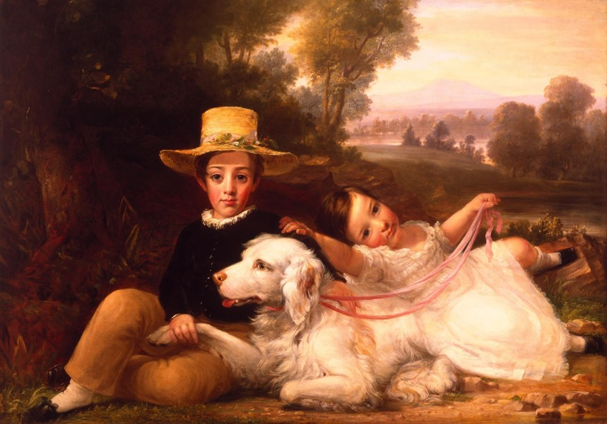 Portrait of Two Children by George Henry Harlow
