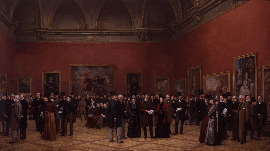 Private View of the Old Masters Exhibition, Royal Academy, 1888 by Henry Jamyn Brooks
