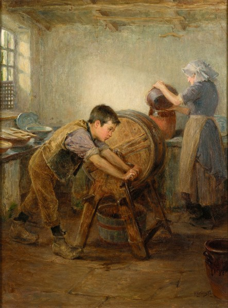 Ralph Hedley The Butter Churn 1897