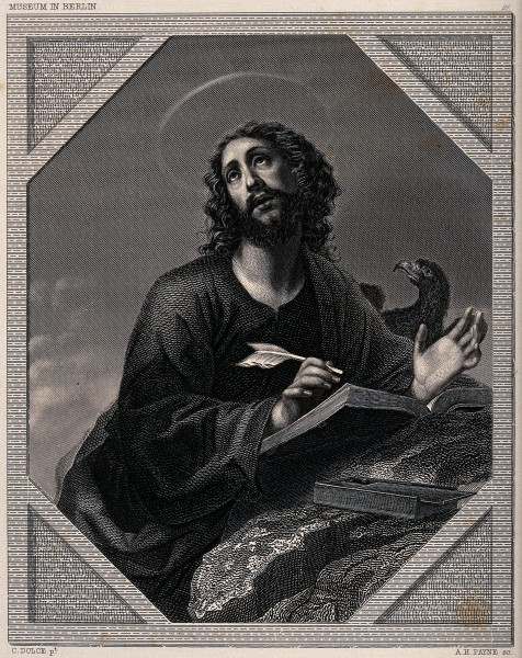 Saint John the Evangelist. Engraving by A.H. Payne after C. Wellcome V0032397