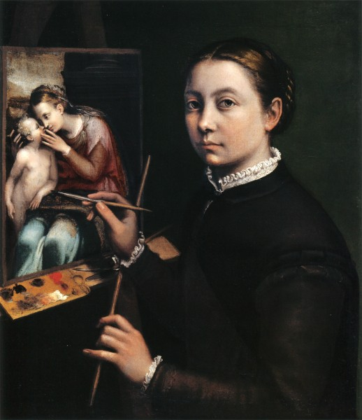 Self-portrait at the Easel Painting a Devotional Panel by Sofonisba Anguissola