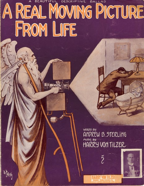 Sheet music cover - A REAL MOVING PICTURE FROM LIFE (1914)