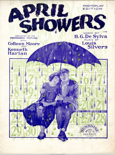 Sheet music cover - APRIL SHOWERS (1923)