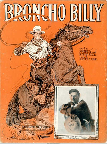 Sheet music cover - BRONCHO BILLY (1914)