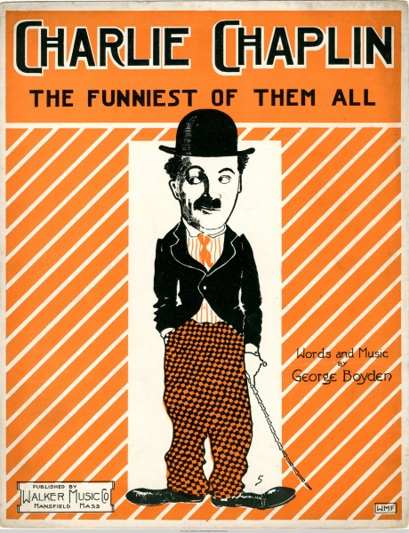 Sheet music cover - CHARLIE CHAPLIN - THE FUNNIEST OF THEM ALL (1915)
