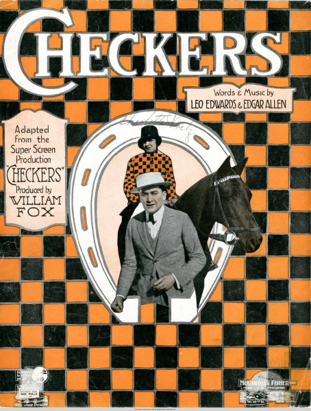 Sheet music cover - CHECKERS (1919)