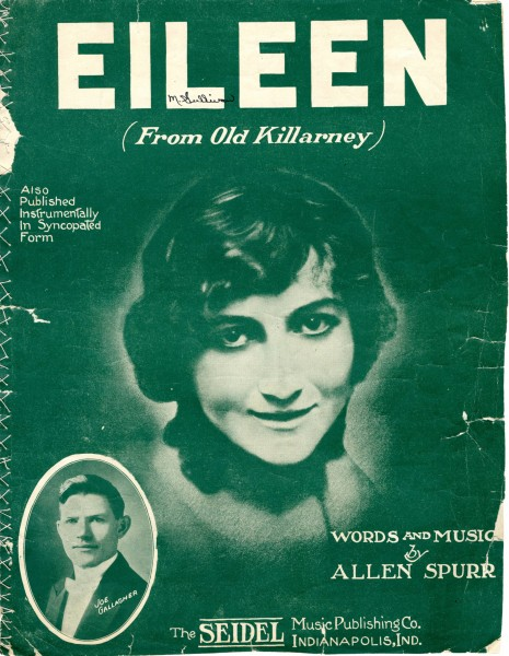 Sheet music cover - EILEEN - FROM OLD KILLARNEY (1914)