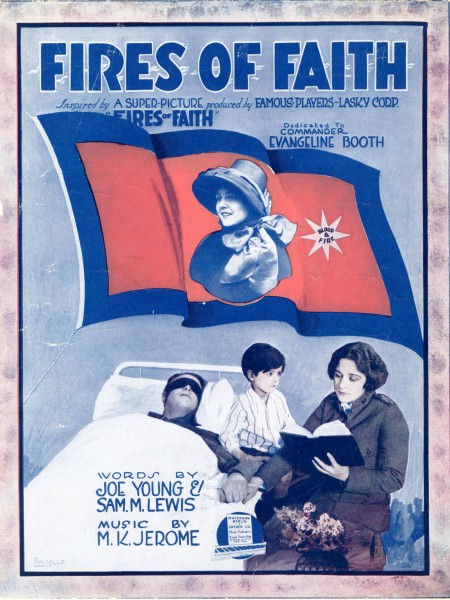Sheet music cover - FIRES OF FAITH (1919)