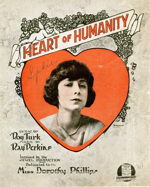 Sheet music cover - HEART OF HUMANITY (1919)