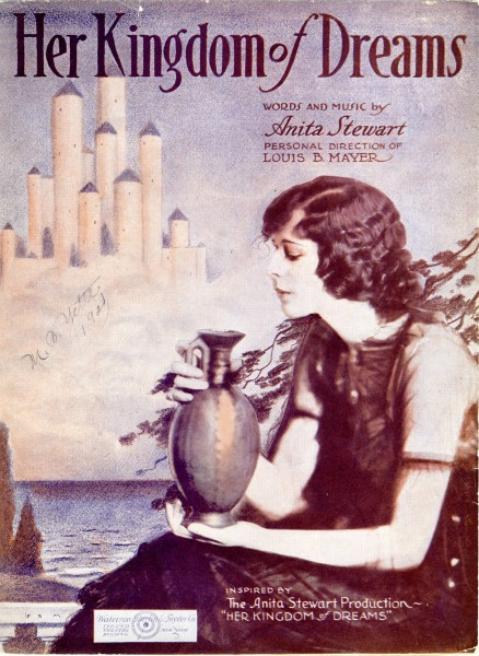Sheet music cover - HER KINGDOM OF DREAMS (1919)