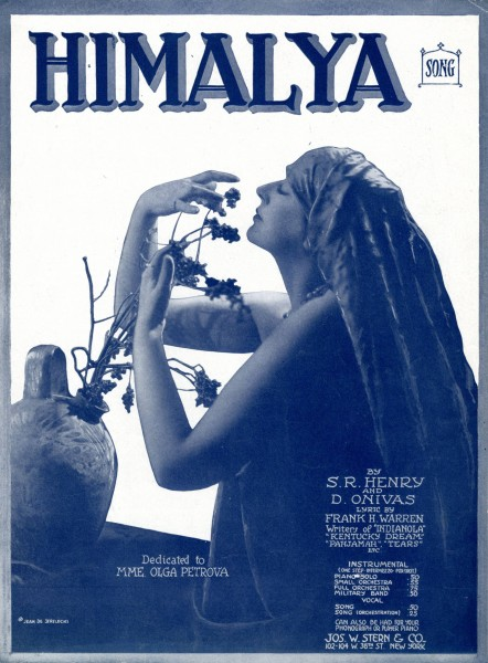 Sheet music cover - HIMALYA - A SONG OF THE FAR EAST - CHANT ORIENTAL (1919)