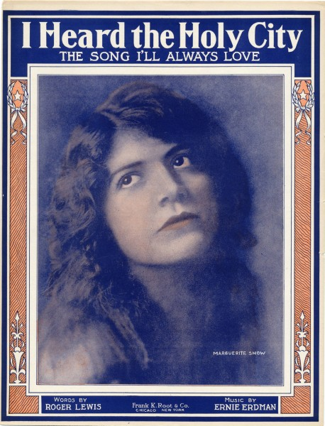 Sheet music cover - I HEARD THE HOLY CITY - THE SONG I'LL ALWAYS LOVE (1915)