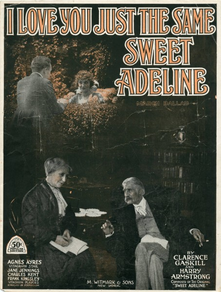 Sheet music cover - I LOVE YOU JUST THE SAME - SWEET ADELINE (1919)