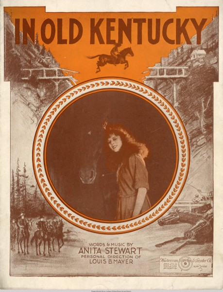 Sheet music cover - IN OLD KENTUCKY (1919)