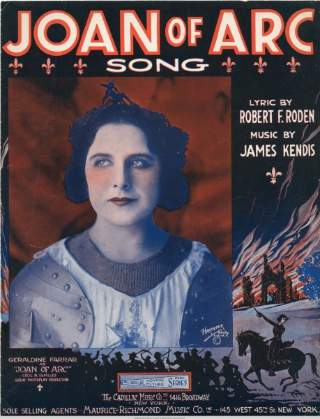 Sheet music cover - JOAN OF ARC - SONG (1916)