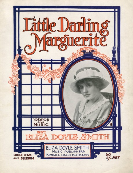 Sheet music cover - LITTLE DARLING MARGUERITE (1919)
