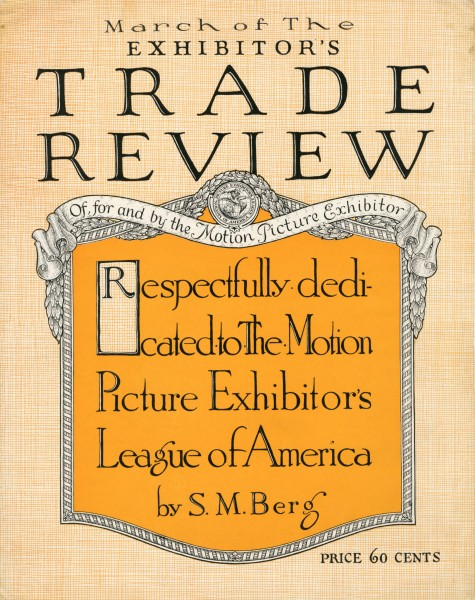 Sheet music cover - MARCH OF THE EXHIBITOR'S TRADE REVIEW (1916)
