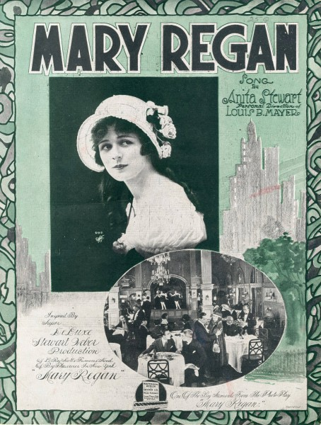 Sheet music cover - MARY REGAN (1919)