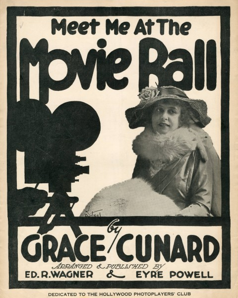 Sheet music cover - MEET ME AT THE MOVIE BALL (1916)