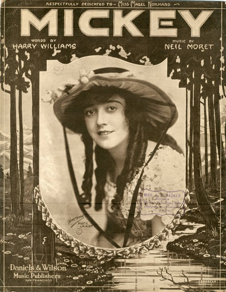 Sheet music cover - MICKEY (1918)