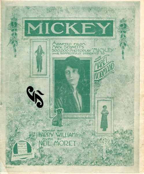 Sheet music cover - MICKEY (1918) (variant 2)