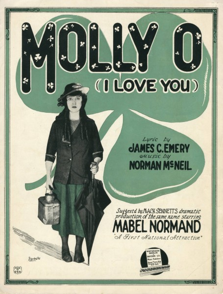 Sheet music cover - MOLLY-O - I LOVE YOU (1921)