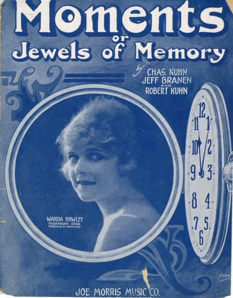 Sheet music cover - MOMENTS - OR JEWELS OF MEMORY (1919)