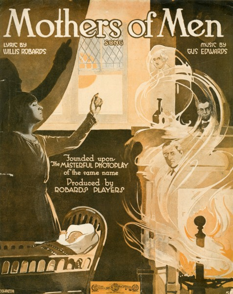 Sheet music cover - MOTHERS OF MEN - SONG (1917)