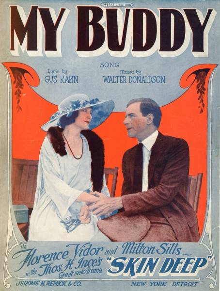 Sheet music cover - MY BUDDY - SONG (1922)
