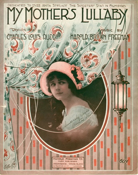 Sheet music cover - MY MOTHER'S LULLABY - SONG (1917)