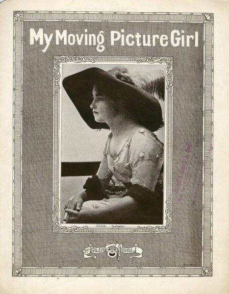 Sheet music cover - MY MOVING PICTURE GIRL (1913)