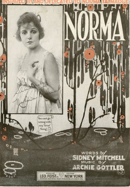 Sheet music cover - NORMA (1919)