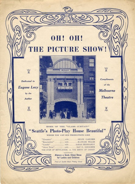 Sheet music cover - OH! OH! THE PICTURE SHOW! (1913)