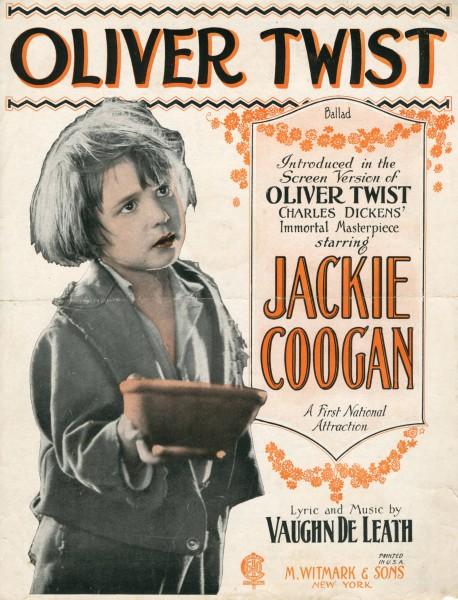 Sheet music cover - OLIVER TWIST - BALLAD (1911)