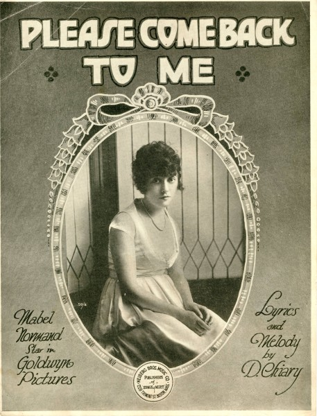 Sheet music cover - PLEASE COME BACK TO ME (1919)